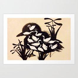 learningtoswim Art Print