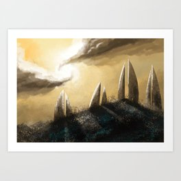 Ray of Light 3 Art Print