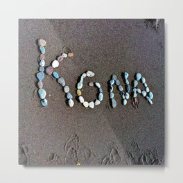 Kona Rock Art Metal Print