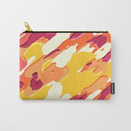 red pink yellow and orange camouflage graffiti painting background Carry-All Pouch