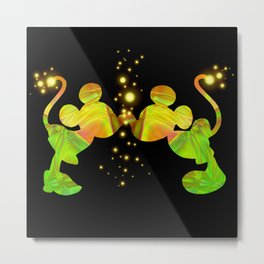 colorful mikey and minnie Metal Print