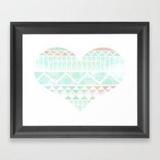 Aztec Love Framed Art Print
