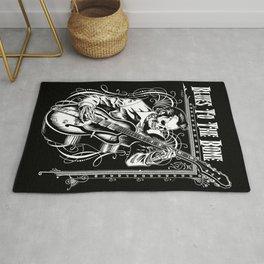 Blues to the Bone Rockabilly Rug
