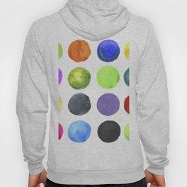 Watercolor circles Hoody