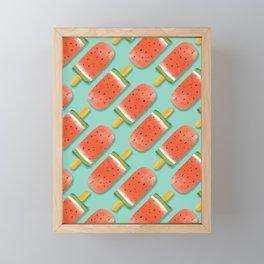 Watermelon Popsicles Pattern #society6 #decor #buyart Framed Mini Art Print