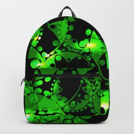 Green luminous lace from circles and balls. Backpack