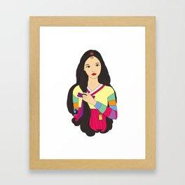 장화 'The Korean Rose' Framed Art Print