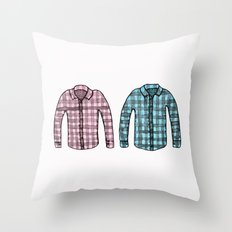Flannel shirts Throw Pillow
