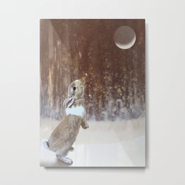 Winter Bunny Metal Print