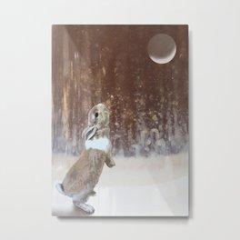 Winter Bunny Metal Print