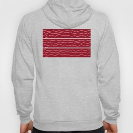 Red with White Squiggly Lines Hoody