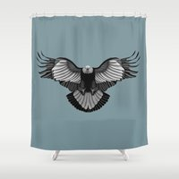 eagle Shower Curtains featuring Eagle by Schwebewesen • Romina Lutz