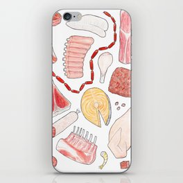 A Selection of Meats iPhone Skin