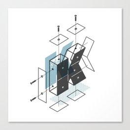 The Exploded Alphabet / K Canvas Print