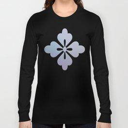 Soft Ornate Grid Pattern Long Sleeve T-shirt