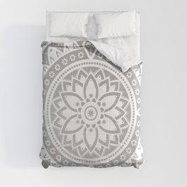 Mandala Silver Spirit Spiritual Zen Bohemian Hippie Yoga Mantra Meditation Comforters