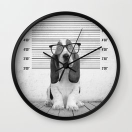 Guilty Puppy Wall Clock