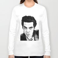 "nick cave Long Sleeve T-shirts featuring ""Nick Cave"" by Jocke Hegsund"