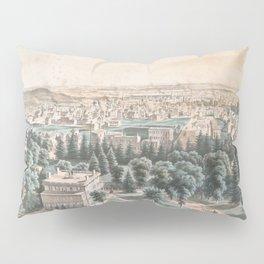 Vintage Pictorial Map of Newark NJ (1853) Pillow Sham