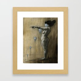 Grid Lock Framed Art Print