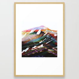 Abstract Mountains II Framed Art Print