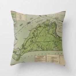 Martha's Vineyard 1913 Throw Pillow