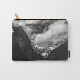 Lake Louise Black and White Minimalism Photography   Black and White   Photography Carry-All Pouch