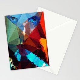 Blue Rocket - Kubistika by Boris Draschoff Stationery Cards