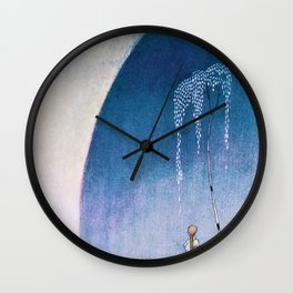 White Bear Taking Her Daughter To The Palace - Digital Remastered Edition Wall Clock