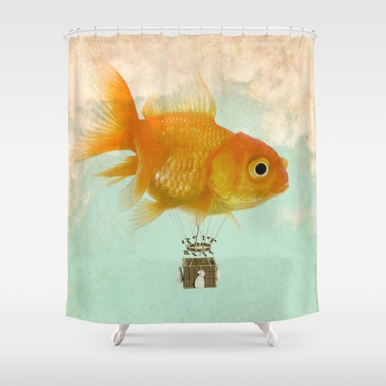 balloon fish 03 Shower Curtain