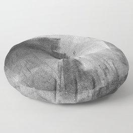 Black and Grey Concrete Texture Urban Minimalist Floor Pillow