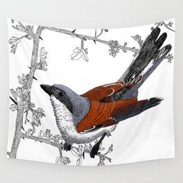 Red-Backed Shrike Wall Tapestry