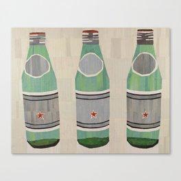 green glass bottles Canvas Print
