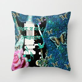 Peace Love and Rock n Roll #3 Throw Pillow