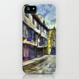 The Shambles York Van Gogh iPhone Case