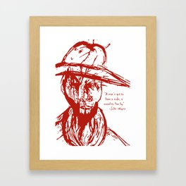 Cowboy Creed Framed Art Print