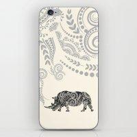 rhino iPhone & iPod Skins featuring Rhino by famenxt