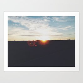 Evening Drive Art Print