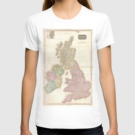 Vintage Map of The British Isles (1818) T-shirt