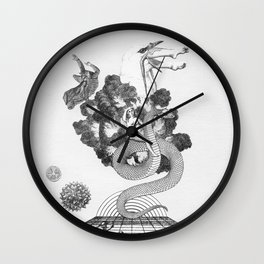 Of the Conjurers Cravings & Curses Wall Clock