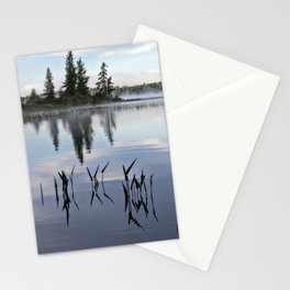 trees and weeds reflected Stationery Cards