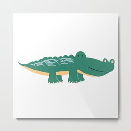 Alligator - Crocodile Metal Print