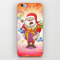 A Christmas Gift from Halloween Creepies to Santa iPhone & iPod Skin