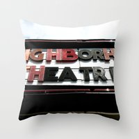 theatre Throw Pillows featuring Theatre by Caitlin Victoria Parker