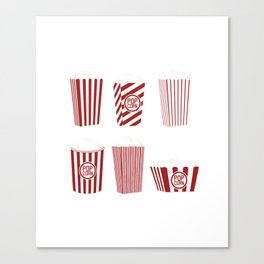 Movie and Popcorn Time Canvas Print