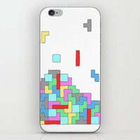 tetris iPhone & iPod Skins featuring Tetris by #dancingpenguin