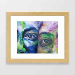 We Compliment Each Other Like Colors Framed Art Print