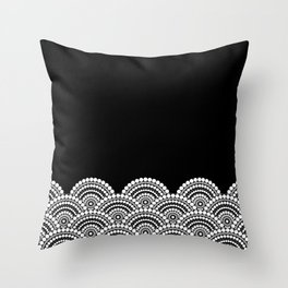 BLACK AND WHITE (abstract pattern) Throw Pillow