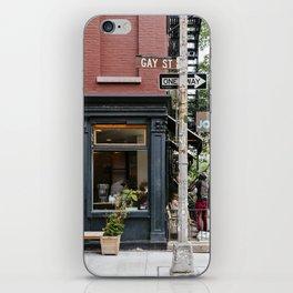 Picturesque restaurant in Greenwich Village, New York iPhone Skin
