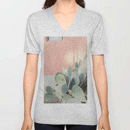 Scenes from Marfa II x Pink Cactus Art Unisex V-Neck